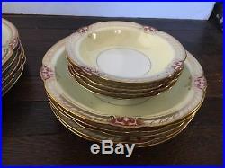 RARE Noritake China RUBIGOLD 89501 Hand-Painted Japan Cup/Plate/Bowl Dinner Set