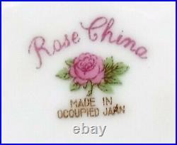 ROSE (Japan/Noritake) china RO54 pattern 48pc Set cup/dinner/bread/fruit/soup
