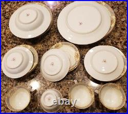 Rare 24 pc Noritake Rose China from Occupied Japan Complete 4 Six-piece Settings