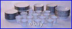 Rare VTG Noritake Duetto 6610 Fine Bone China Made Japan 68 Piece Plates Set Lot
