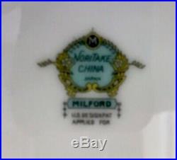 Rare Vintage Noritake Milford China Set 58 Piece Set 8 Place Setting (7 Pcs)