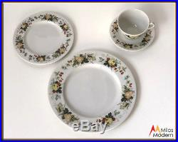 Royal Doulton Estate China Set 48 Piece Service 12 Miramont Fruit Rim Porcelain
