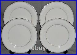 Set (4) NORITAKE Fine China STERLING COVE PATTERN Dinner Plates JAPAN