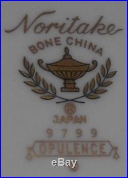 Set (5) NORITAKE Bone China OPULENCE PATTERN Dinner Plates JAPAN