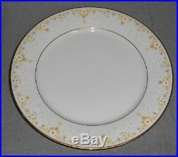 Set (7) Noritake Ivory China FRAGRANCE PATTERN Dinner Plates MADE IN JAPAN