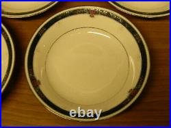Set Of 8 Noritake China Etienne 7 3/4 Soup Bowls Excellent Condition