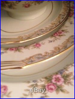 Set Of Noritake Somerset 5317 China 2 Oval Platters And Gravy Boat
