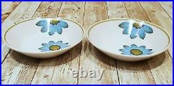 Set of 17 Noritake Progression Blue Daisy China Plates, Bowls, Cups Japan 9001