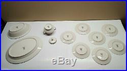 Set of 42 Noritake Ivory China ADAGIO 7237 (Complete- Minus 1 Small Plate) EX++