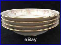 Set of 4 Ivory China Floral Noritake GALLERY 7246 Fruit Bowls FREE SHIPPING