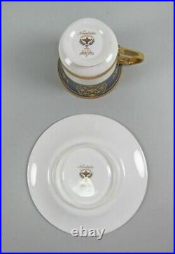 Set of 4 Noritake China IMPERIAL CREST Cup & Saucer Sets+ Extra Saucer
