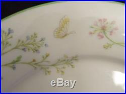 Set of 4 Noritake Ivory China REVERIE Floral #7191 10.5 Dinner Plates, Japan