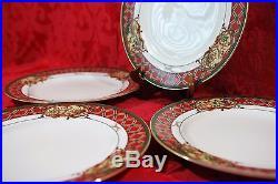Set of 4 Noritake ROYAL HUNT 3930 Sri Lanka Fine China Dinner Plates 10 5/8