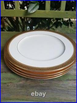 Set of 4 Noritake Summit Gold Bone China 11' Dinner Plate 4912 New