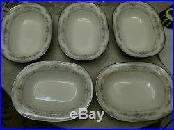 Set of 5-NORITAKE china SHENANDOAH 9729 Oval Vegetable Serving Bowls 10-3/8
