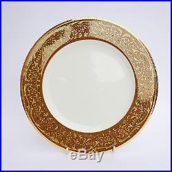 Set of 6 Noritake White Palace Bone China 4753 Gold ACCENT PLATE 9.5 BRAND NEW
