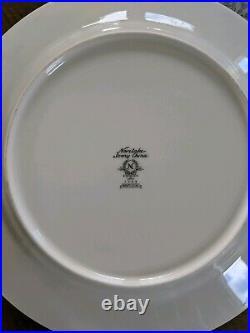 Set of 8 Vintage Noritake MONTELEONE Ivory China 10 5/8 Dinner Plates #7569