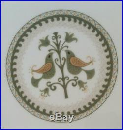Set of 8 noritake china heritage 6226 dinner plates 10 1/2