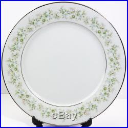 Stunning Noritake Savannah 2031 Rim Platinum 42 Pieces China Dinnerware Set