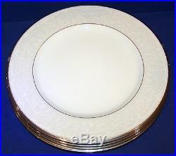 Stunning Set Of 4 Noritake Bone China 4773 Silver Palace 10 7/8 Dinner Plates