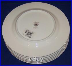 Stunning Set Of 6 Noritake Bone China 4773 Silver Palace 8 1/2 Salad Plates