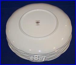 Stunning Set Of 6 Noritake Bone China 9773 Palais Royal 10 3/4 Dinner Plates 2
