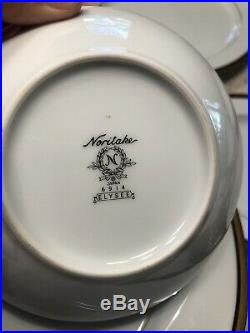 Stunning Set Of Noritake Elysee China 102 Pieces Service For 12