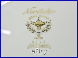 Unused 68 Pc. Black & Gold Noritake Spell Binder China Set Service 12 MINT (81)