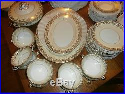 VINTAGE NORITAKE 97 Pc GOLDMERE CREAM / IVORY CHINA SET # 7262 EUC