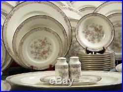 VIntage RARE HUGE NORITAKE IMPERIAL GARDEN Bone China Dinner Set 58 pcs
