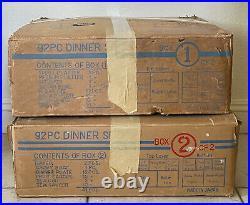 VTG Noritake Bone China 92 pc Japan Dinner Set Plates Tea Cups + Pattern 9705