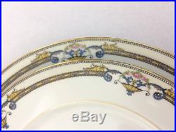Vintage 1920's Noritake Amiston Design 8 Piece China Set 4 Dinner 4 Salad Plates