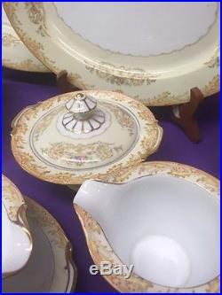 Vintage 1930s NORITAKE M HAND PAINTED CHINA 12 Pl Setting & Serving Set READ