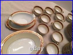 Vintage 1930s Noritake Penrosa China Set 89 pcs Handpainted Japan 10 Settings +