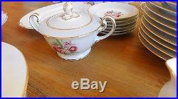 Vintage 1950's Noritake Margarita Japan China Set 5049 Orchid 65 Pieces