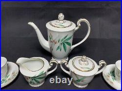 Vintage 1950s Noritake Bamboo China 5565 Small Tea Set Service for 6