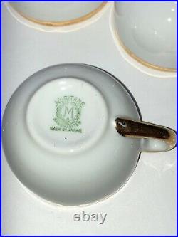 Vintage 22 piece Noritake Pierrepont Children's China Tea Set with Green Stamp