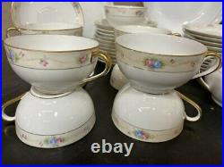 Vintage Beautiful Marguerite China Set by Noritake in Pink and Blue Florals