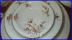 Vintage China Dinnerware set Brenda by M NORITAKE s/6 Hostess Pieces 1948 37pc