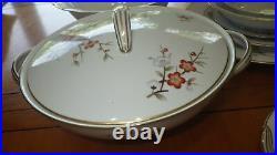 Vintage China Dinnerware set Brenda by M NORITAKE s/6 Hostess Pieces 1948 49pc