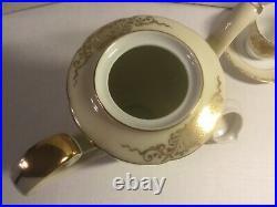 Vintage Goldena China Tea Set-gold Overlay-serves 8-made In Japan Rare