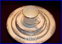 Vintage NORITAKE #9782 BONE CHINA 5 PIECE Place Setting MINT