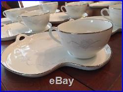 Vintage NORITAKE China Tea Party Snack Set 6 Cups 6 Luncheon Plates CASABLANCA