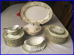 Vintage Noritake Athena china Platter, Serving Bowl, Dinner Plates Creamer set