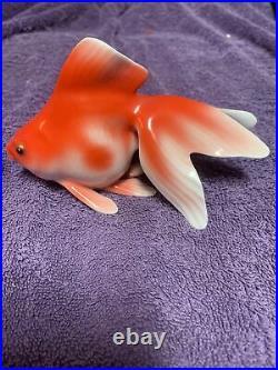 Vintage Noritake Bone China Nippon Toki Fantail Goldfish Koi Figurine Set Lot