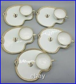 Vintage Noritake China AVON 5531 Flower Snack Plate Tea/Cup Set of 5