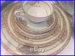Vintage Noritake China Bancroft Pattern Set for 12 persons, Barely Used