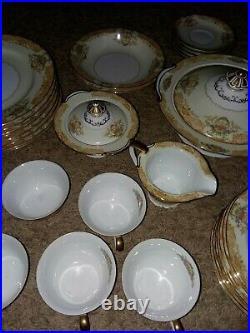 Vintage Noritake China Garvin Pattern 6001 Set 47 Pieces 1940's