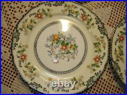 Vintage Noritake China Japan Brangane Set of 7 10 dinner plates