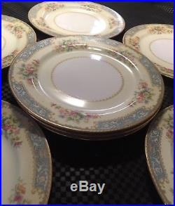 Vintage Noritake China Plate Set of 8 Occupied Japan Collectible Porcelain 1940s